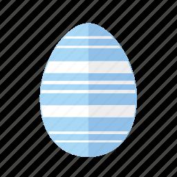 blue, design, easter, egg, horizontal, lines, stripes icon