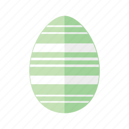 design, easter, egg, green, horizontal, lines, stripes icon