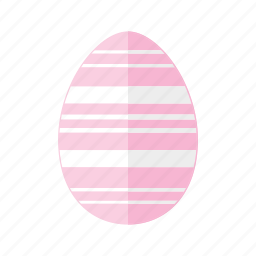design, easter, egg, horizontal, lines, pink, stripes icon