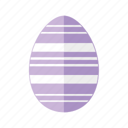 design, easter, egg, horizontal, lines, purple, stripes icon