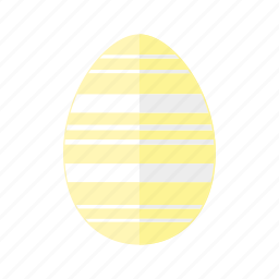 design, easter, egg, horizontal, lines, stripes, yellow icon
