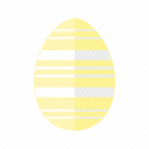 design, easter, egg, horizontal, lines, stripes, yellow icon