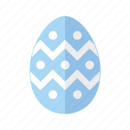 blue, design, dots, easter, egg, polkadots, zigzag icon