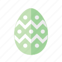 design, dots, easter, egg, green, polkadots, zigzag icon