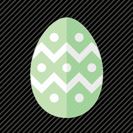 design, dots, easter, egg, green, polkadots, zigzag icon