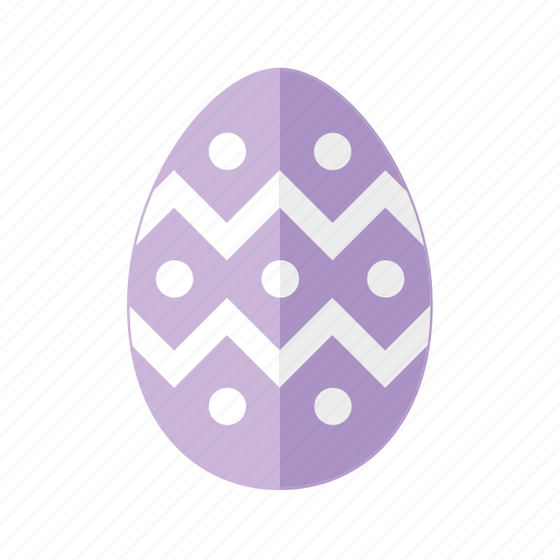 design, dots, easter, egg, polkadots, purple, zigzag icon