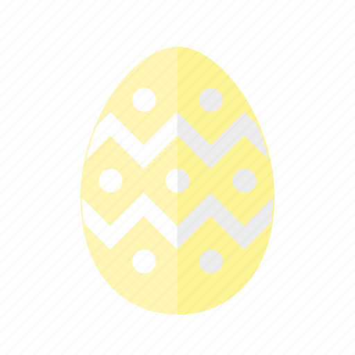 design, dots, easter, egg, polkadots, yellow, zigzag icon