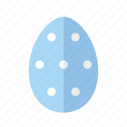 blue, design, dots, easter, egg, polkadots, spots icon