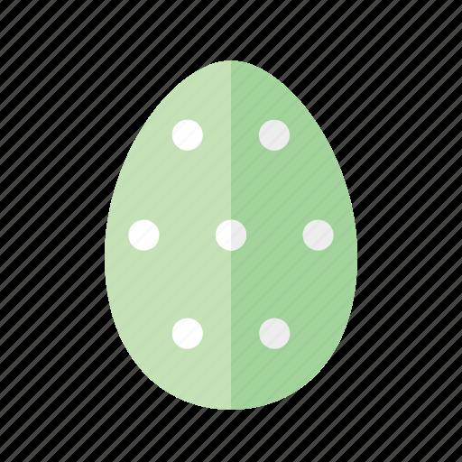 design, dots, easter, egg, green, polkadots, spots icon
