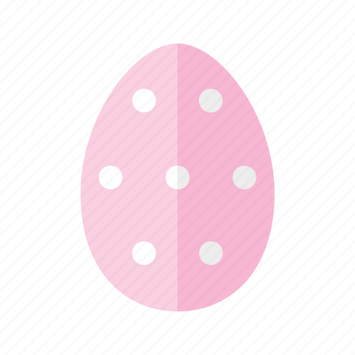 design, dots, easter, egg, pink, polkadots, spots icon