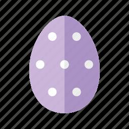 design, dots, easter, egg, polkadots, purple, spots icon