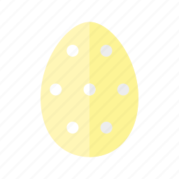design, dots, easter, egg, polkadots, spots, yellow icon