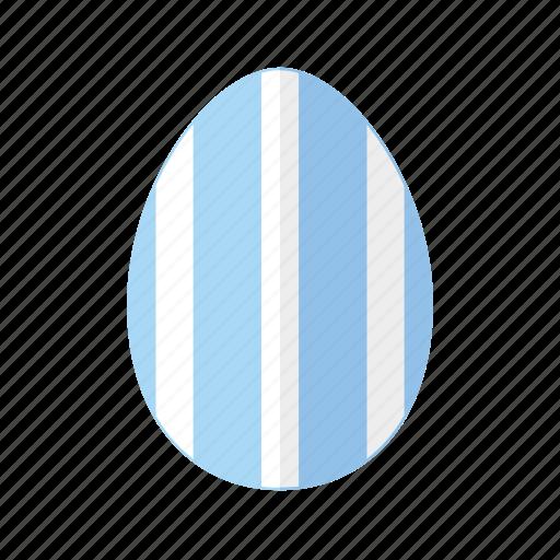 blue, design, easter, egg, stripes, vertical, white icon