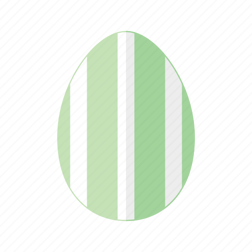 design, easter, egg, green, stripes, vertical, white icon