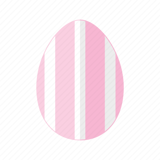 design, easter, egg, pink, stripes, vertical, white icon