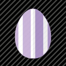 design, easter, egg, purple, stripes, vertical, white icon