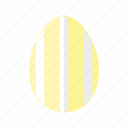design, easter, egg, stripes, vertical, white, yellow icon