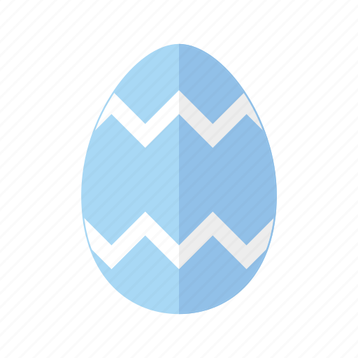 blue, design, easter, egg, zag, zig, zigzag icon