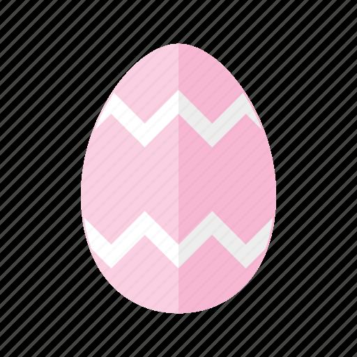 design, easter, egg, pink, zag, zig, zigzag icon