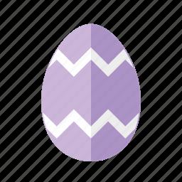 design, easter, egg, purple, zag, zig, zigzag icon