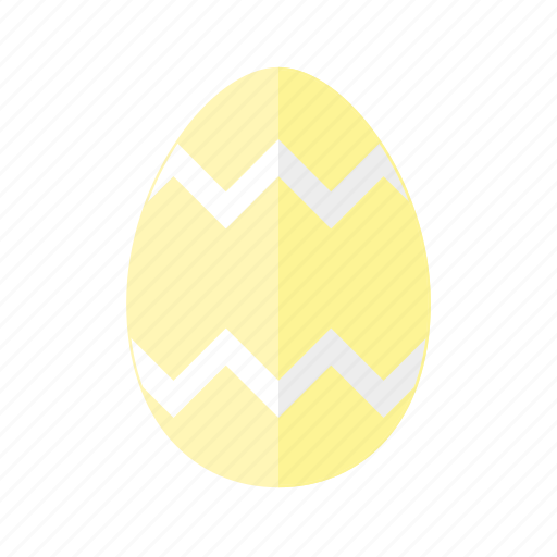 design, easter, egg, yellow, zag, zig, zigzag icon