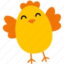 easter, chick, egg, colorful, chicken