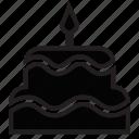 birthday, cake, celebrate, cookie, food, wedding icon