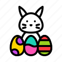 animal, bunny, easter, egg, rabbit