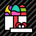 easter, egg, gift, gift box, present icon