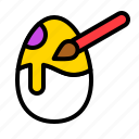 art, easter, egg, paint, paintbrush icon
