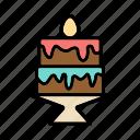 birthday, cake, celebration, chocolate