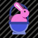 basket, bunny, bunnybasket, celebration, easter, pet, spring icon