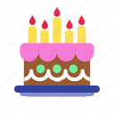 birthday, cake, candles, celebration, easter, party icon