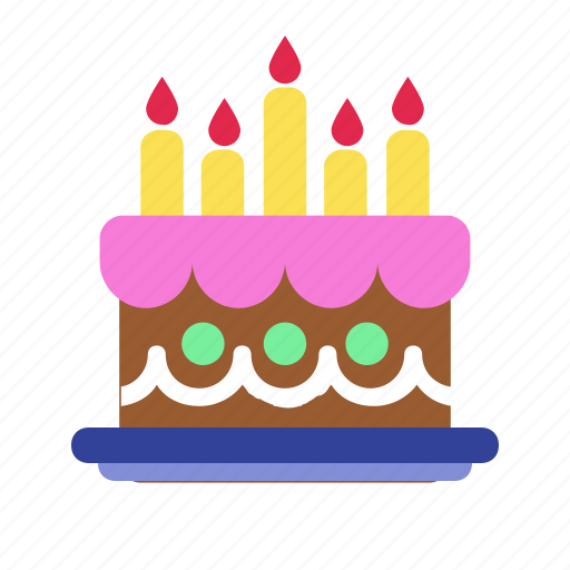 Prime Birthday Cake Candles Celebration Easter Party Icon Funny Birthday Cards Online Overcheapnameinfo