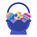 easter, eggbasket, eggs, holiday, spring