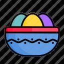 bowl, celebration, decoration, easter, egg, holiday, spring
