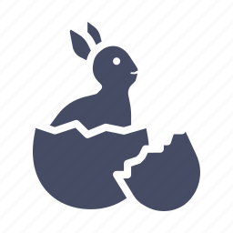 bunny, cute, easter, egg, hatch, paschal, rabbit icon