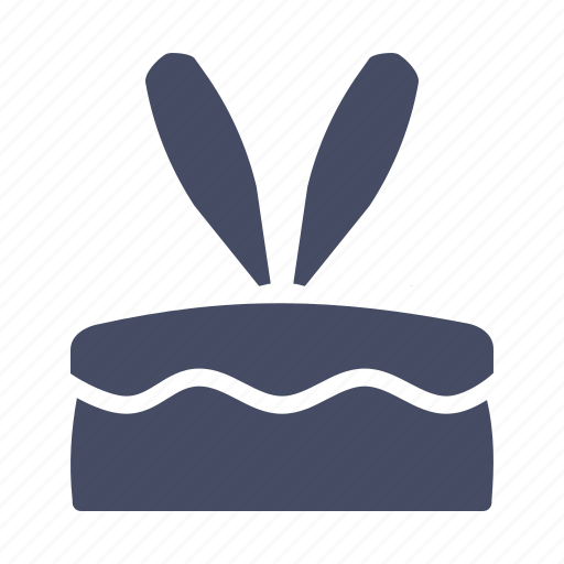 bakery, bunny, cake, dessert, ears, easter, rabbit icon