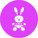 bowl, bunny, cute, easter, eggs, paschal, rabbit icon