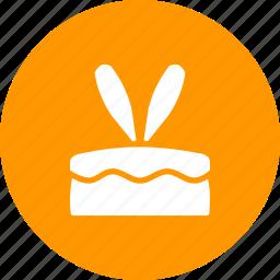 bunny, cake, dessert, ears, easter, rabbit icon
