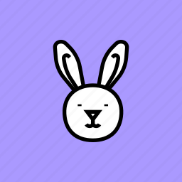 bunny, cute, easter, happy, rabbit icon
