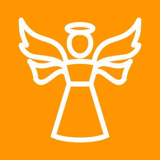 angel, death, decoration, heaveb, holy, wings icon