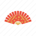 fan, flower, flowers, folding icon