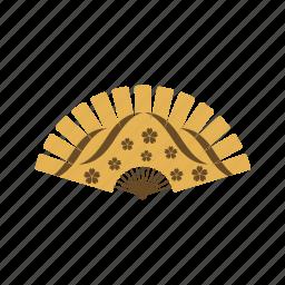 fan, flower, flowers, folding icon