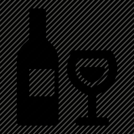 alcohol, bottle, drink, watchkit, wine bottle, wine glass icon