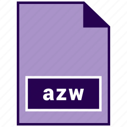 azw, ebook file format, file format icon