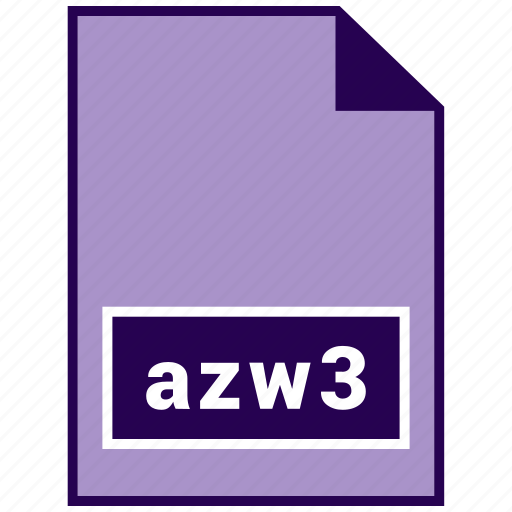 azw3, ebook file format, file format icon