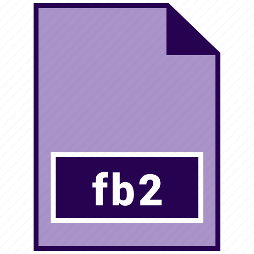 ebook file format, fb2, file format icon