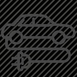 car, charge, eco, electric, energy, sedan, vehicle icon