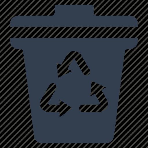 bin, bio, eco, ecology, envirnomental, garbage, nature, recycle, trash icon